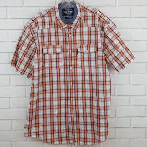 Ecko Unltd. Plaid Short Sleeve Button Down Shirt
